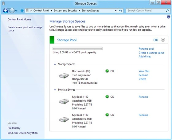 Microsoft Details Storage Spaces Feature In Windows 8