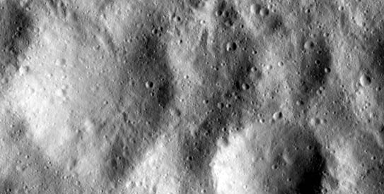 Asteroid Vesta surface