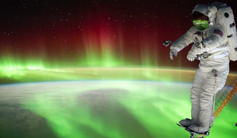 Astronauts Track Northern Lights