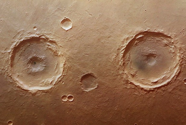 Arima twins craters on Mars surface