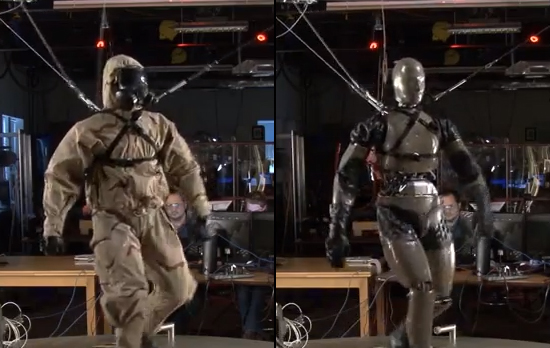 Soldier robots Petman and Atlas