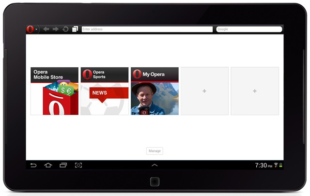 Opera web browser for Android
