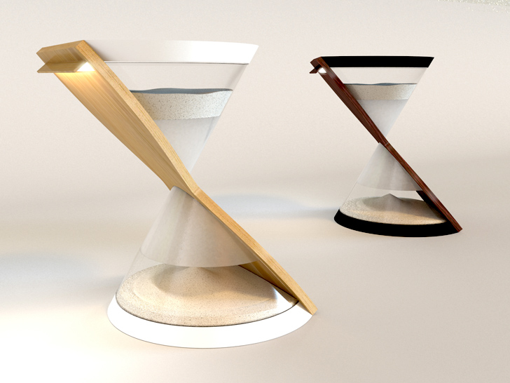 LED lamps based on the hourglass