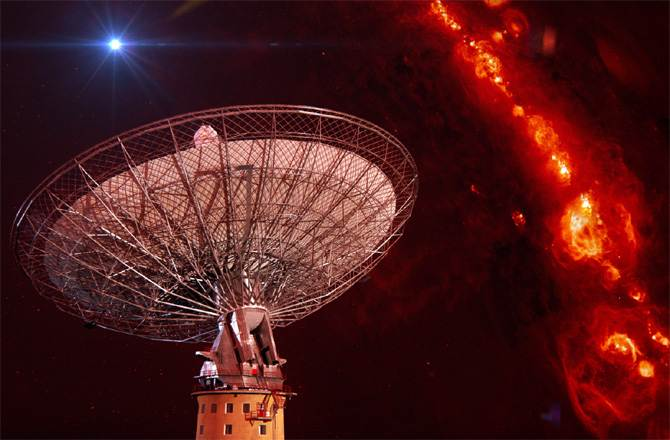 Radio waves with distance of 11 billion light years