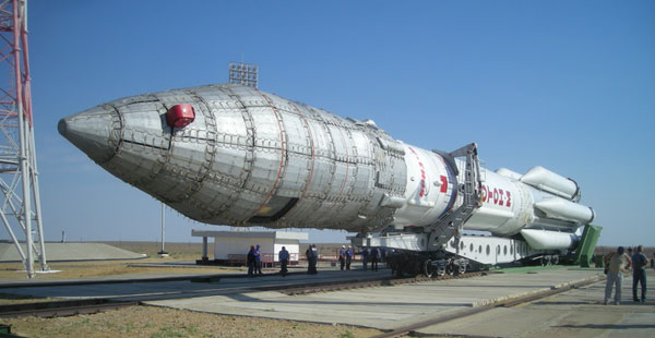 Russian Proton rocket failure