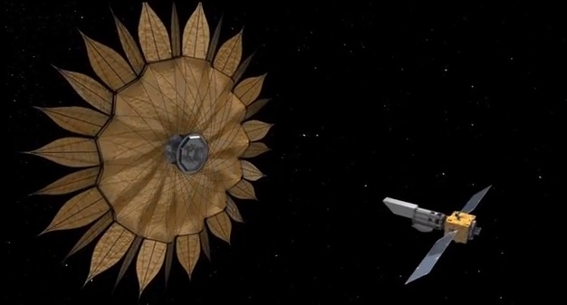 Sunflower-shaped spacecraft