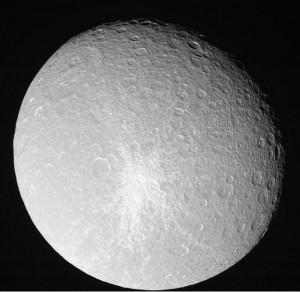 Rhea moon of Saturn