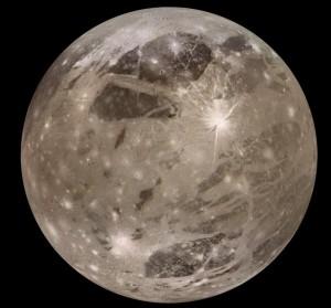 The largest satellite Ganymede