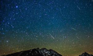 Meteor shower calendar for 2015