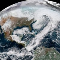 "Satellite Shows a Winter Storm ""'Bomb Cyclone"" from Space"