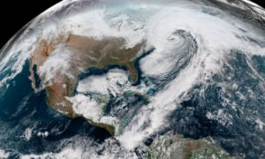 """Satellite Shows a Winter Storm """"'Bomb Cyclone"""" from Space"""