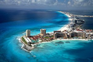Cancun, a major tourist destination in Mexico