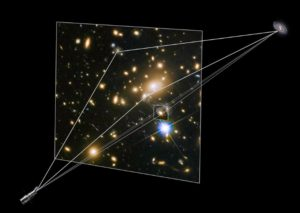 Hubble's vision allows astronomers to map the distribution of dark matter in space using gravitational lensing