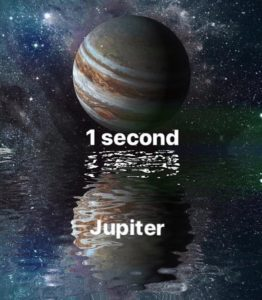 In Jupiter you would survive less than 1 second