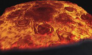 NASA Juno Mission Organized 3-D Flight of Jupiter's North Pole
