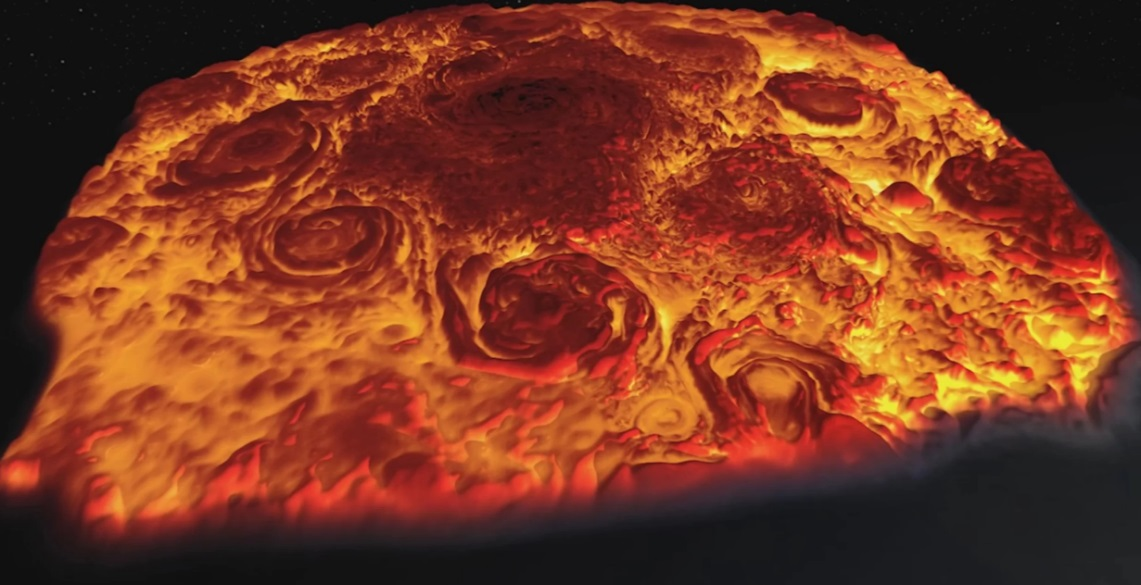 NASA Juno Mission Organized 3-D Flight of Jupiter's North Pole
