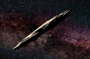 Oumuamua is at least 400 meters long, dark and reddish in color