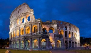 The Colosseum in Rome, Italy, one of the most popular tourist attractions in the world