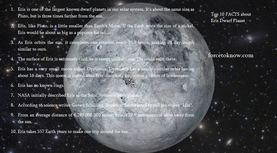 Top 10 Facts about Eris Dwarf Planet
