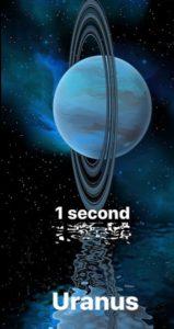 Uranus you could survive less than 1 second