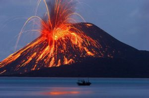 top 10 dangerous volcanoes , Krakatoa