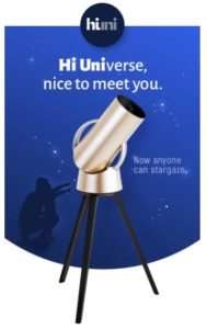 "Hiuni stands for ""Hi Universe"", and the slogan is ""Nice to meet you"""