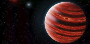 HD 100546 b size could be 50-150 times our Jupiter