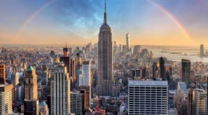Tourists visit the Empire State Building to see the architecture of this famous structure
