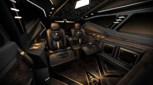 The inside of the SUV has Rolls Royce-class luxury