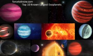 Top 10 Known Largest Exoplanets in The Universe