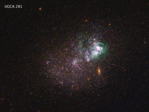 UGCA, 18 million light-years away