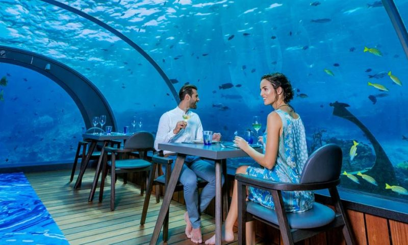Meet the World's Largest All-Glass Underwater Restaurant in Maldives