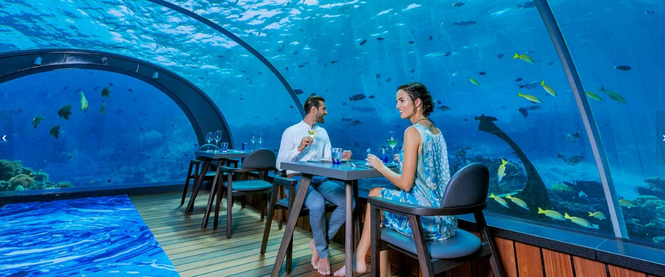 Meet the World's Largest All-Glass Underwater Restaurant in Maldives