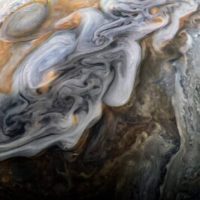NASA Created Dark and Stormy Image of Jupiter by JunoCam
