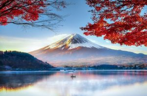 Mount Fuji which is located on Honshū