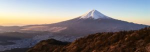 This beautiful Mount lies about 100 kilometers south-west of Tokyo