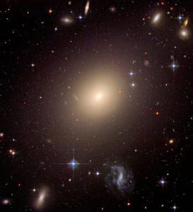 The giant elliptical galaxy
