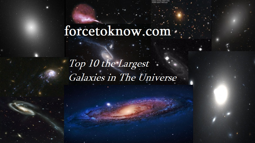 Top 10 Largest Galaxies in The Universe