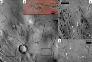 Ghost dunes in the Noctis Labyrinthus region on Mars