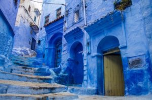 "In northwest Morocco, it is situated the beautiful Rif Mountains Chefchaouen or ""Chaouen"""