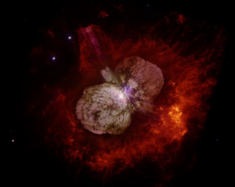 Most Luminous Superstar Eta Carinae Reaches Earth as Cosmic Rays