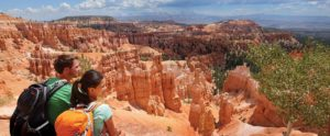 Bryce Canyon National Park, a sprawling reserve in southern Utah, is known for crimson-colored hoodoos