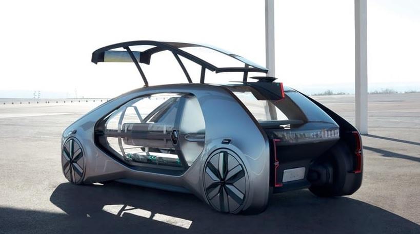 Incredible Concept Renault EZ-Go Car Is a Robot Taxi in Future