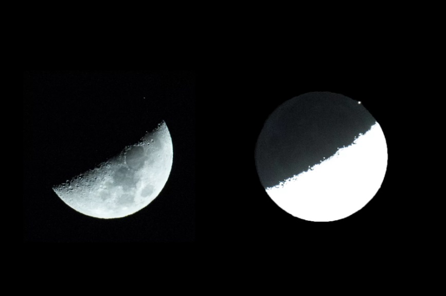views show what an Aldebaran occultation by the moon is like