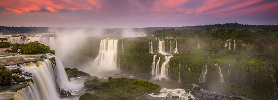 Iguazú Falls or Iguaçu Falls are waterfalls of the Iguazu River on the border of the Argentine province of Misiones and the Brazilian state of Paraná