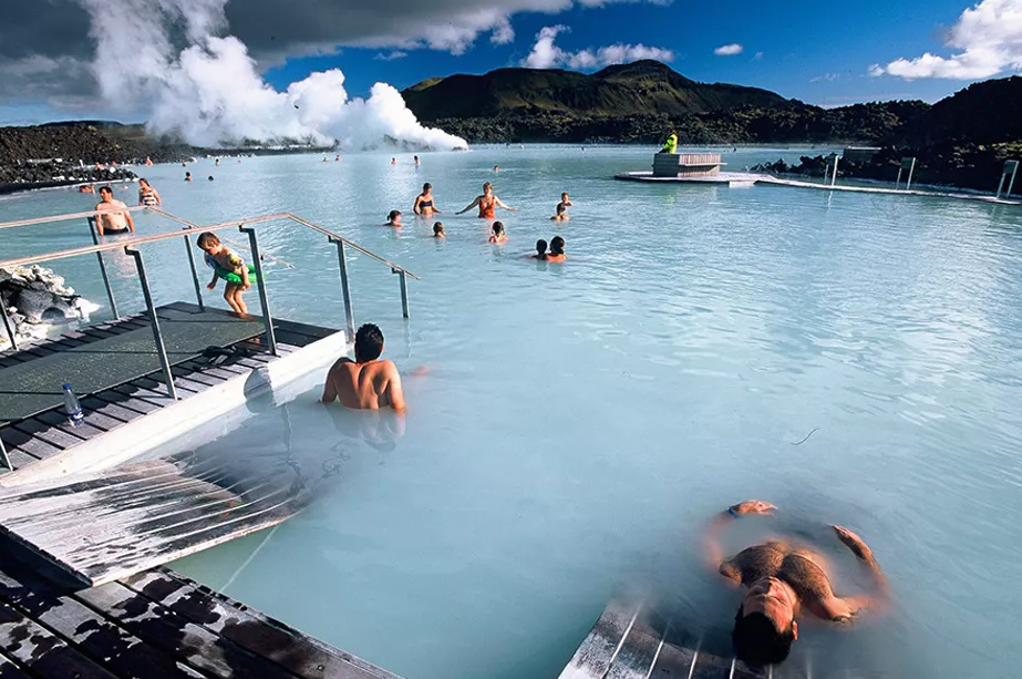 The first person to bathe in it was a young man called Valur Margeirsson