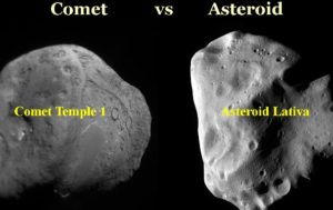 Difference Between an Asteroid and a Comet