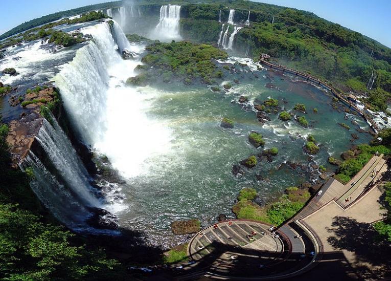 Falls and Brazilian tourist complex