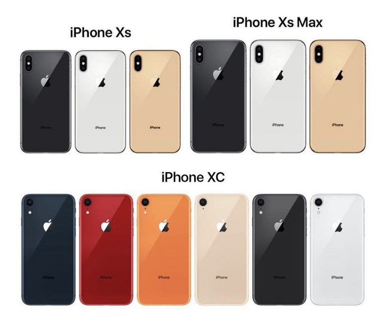 iPhone XS, iPhone XS Plus and iPhone XC