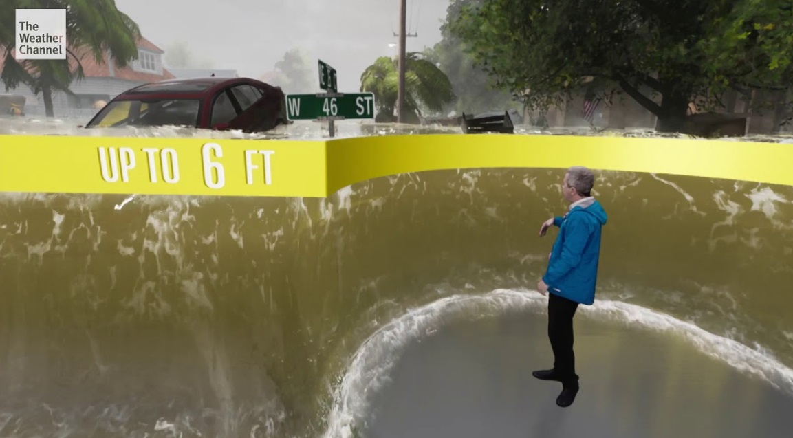 Weather Channel Has Created Artificial Visual Storm Surge